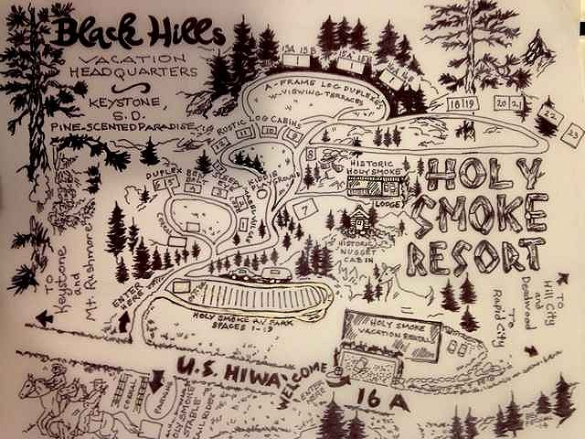 HolySmoke Hand Drawn Map