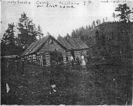 Holy Smoke Camp, Keystone South Dakota in 1911